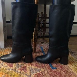 Classic Black Heeled Boots
